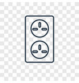 socket concept linear icon isolated on vector image vector image