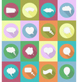 speech bubbles flat icons 19 vector image vector image