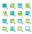 stylized business and internet icons vector image vector image