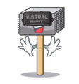 virtual reality wooden meat hammer cartoon for vector image vector image