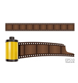 yellow film roll vector image vector image