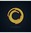 logo letter c vector image