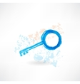 Key grunge icon vector image