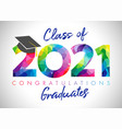2021 colorful stained graduates vector image vector image