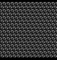 3d geometric pattern black and grey background vector image