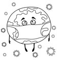 a coloring bookpage for chidlren and adults a vector image