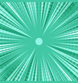 abstract comic green burst background vector image