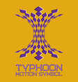 abstract logo symbol in motion typhoon shape vector image