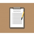 agenda list with document and clipboard vector image