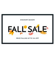 autumn fall sale maple leaf poster autumnal vector image vector image