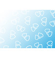 background consisting of two woven hearts vector image vector image