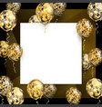 balloon with golden stars on square realistic vector image vector image