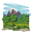 beautiful nature landscape vector image vector image