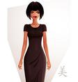 Beautiful woman wearing an elegant dress full body vector image vector image