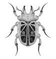 beetle robot mechanical insect on a white vector image vector image