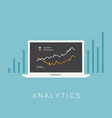 business analytics concept vector image vector image