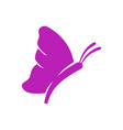 butterfly simple fly logo design template isolated vector image vector image