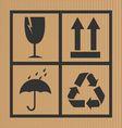 Cardboard symbol background vector image
