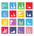 Collection of 16 Bar Chart Icons Banner vector image vector image