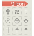 crosses icons set vector image vector image