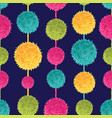 dark colorful decorative hanging pompoms vector image vector image