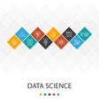 data science trendy ui template infographics vector image