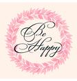 Decorative pink floral frame vector image vector image
