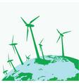 eco wind mills vector image