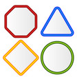 empty signs octagon triangle square circle shapes vector image