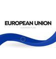 european union waving flag banner eu distinctive vector image vector image