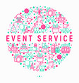 event services concept in circle vector image vector image