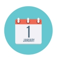 First January Dates Flat Icon vector image