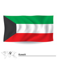 Flag of Kuwait vector image