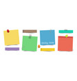 flat design multicolor color sticky notes vector image