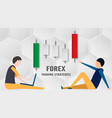 forex trading strategy concept in paper cut and vector image vector image