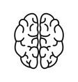 genius brain icon outline style vector image vector image