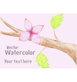 Gentle watercolor flower on branch vector image vector image