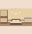 graceful bedroom interior in warm colors with vector image vector image