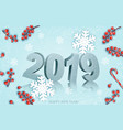 happy new year background with a 2019 and vector image vector image