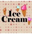 icecream dessert sweet food background vector image