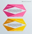 Infographic template for business web design vector image vector image