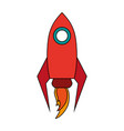 isolated rocket space ship vector image vector image