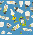 lamps and different bulbs in cartoon style vector image vector image