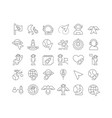line icons day human space flight vector image vector image