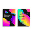 modern poster layout with vibrant gradient shapes vector image