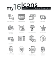 Modern thin line icons set of internet shopping vector image vector image