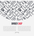 monochrome barber shop concept vector image vector image