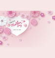 mothers day card concept design vector image vector image
