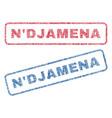 n djamena textile stamps vector image vector image