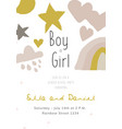 newborn baby shower greeting or invitation card vector image